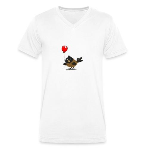 vogeltje met ballon - Mannen bio T-shirt met V-hals van Stanley & Stella