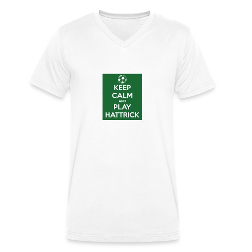 keep calm and play hattrick - T-shirt ecologica da uomo con scollo a V di Stanley & Stella