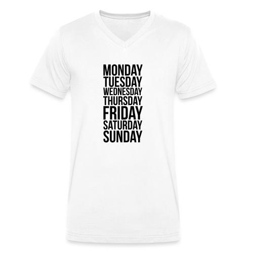 Days of the Week - Men's Organic V-Neck T-Shirt by Stanley & Stella