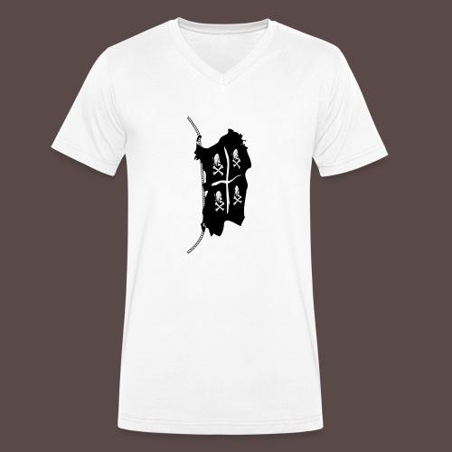 Sardegna, Pirate Flag - T-shirt ecologica da uomo con scollo a V di Stanley & Stella