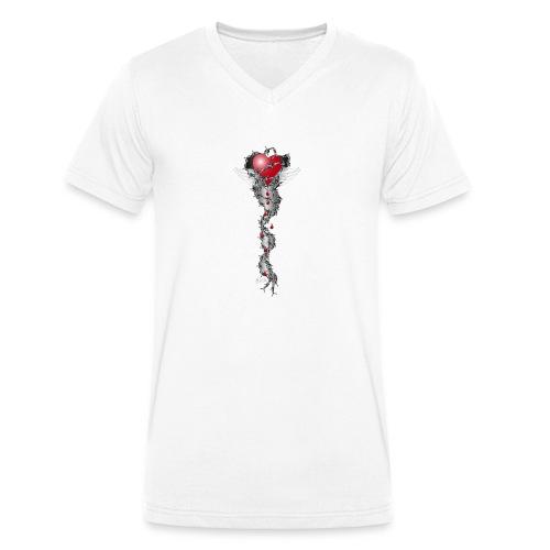 Barbwired Heart 2 - Herz in Stacheldraht - Männer Bio-T-Shirt mit V-Ausschnitt von Stanley & Stella
