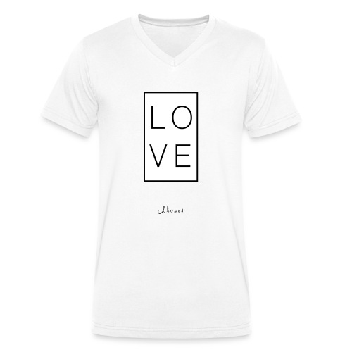 LOVE - Men's Organic V-Neck T-Shirt by Stanley & Stella