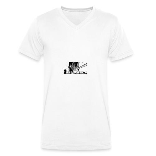 citylife - T-shirt ecologica da uomo con scollo a V di Stanley & Stella