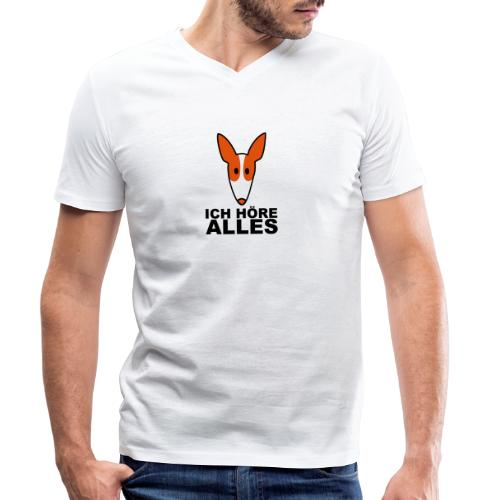 Podenco ich höre alles - Männer Bio-T-Shirt mit V-Ausschnitt von Stanley & Stella