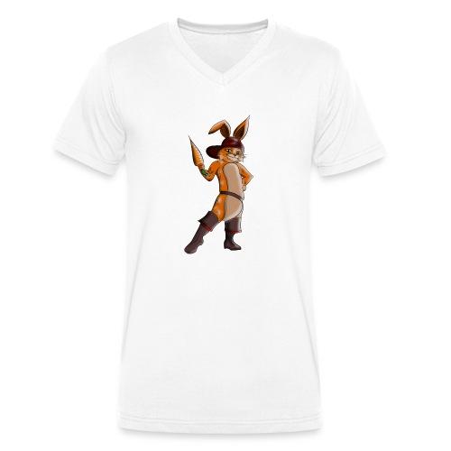 Hase mit Möhre - Männer Bio-T-Shirt mit V-Ausschnitt von Stanley & Stella