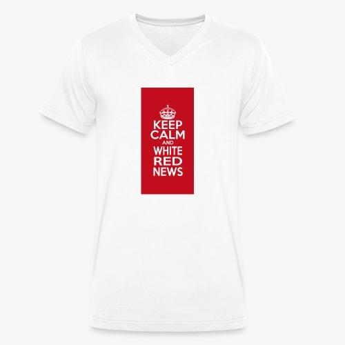cover cellulare jpg - T-shirt ecologica da uomo con scollo a V di Stanley & Stella