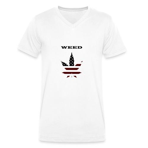 WEED Shirt - Männer Bio-T-Shirt mit V-Ausschnitt von Stanley & Stella
