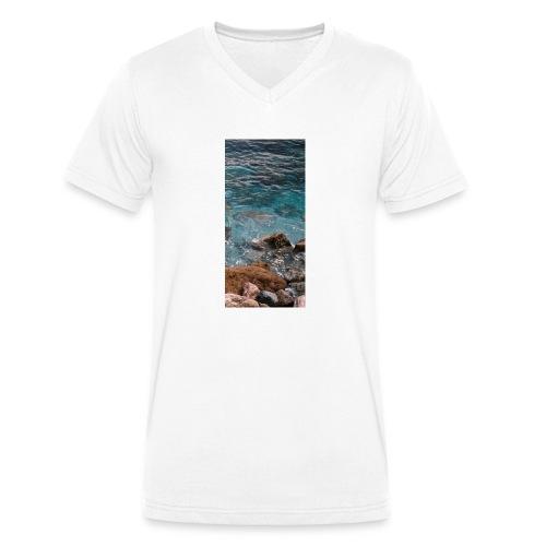 iPhone 4/4s Hard Case mit Wellenmotiv - Männer Bio-T-Shirt mit V-Ausschnitt von Stanley & Stella