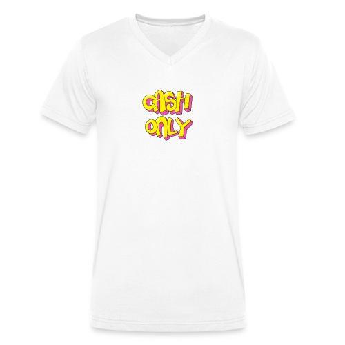 Cash only - Mannen bio T-shirt met V-hals van Stanley & Stella