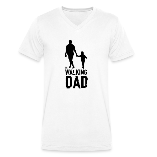The Walking Dad - Men's Organic V-Neck T-Shirt by Stanley & Stella