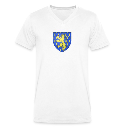 Blason de la Franche-Comté avec fond transparent - T-shirt bio col V Stanley & Stella Homme