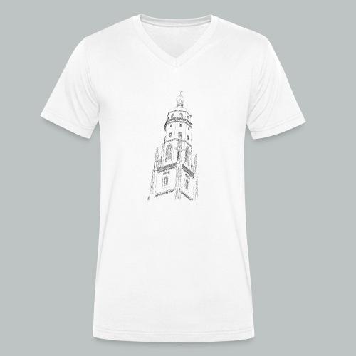 Nördlingen T-Shirt Daniel schwarz - Männer Bio-T-Shirt mit V-Ausschnitt von Stanley & Stella