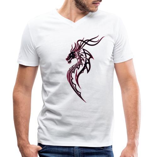 Fantasy Drache im Tattoo und Tribal Style - Männer Bio-T-Shirt mit V-Ausschnitt von Stanley & Stella