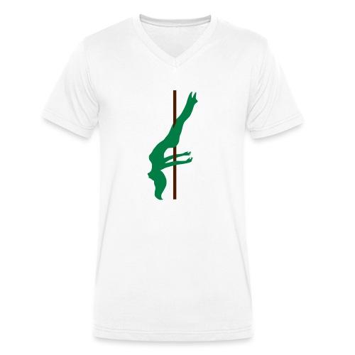 Pole Dance Pole Dancing - T-shirt ecologica da uomo con scollo a V di Stanley & Stella