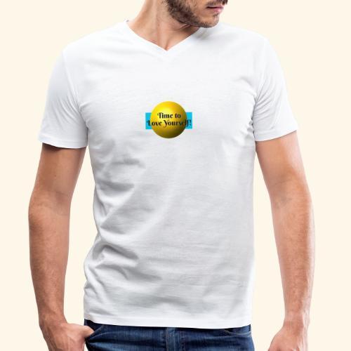 Time to Love Yourself - Männer Bio-T-Shirt mit V-Ausschnitt von Stanley & Stella