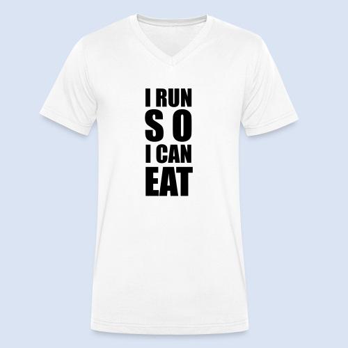 I RUN SO I CAN EAT - Männer Bio-T-Shirt mit V-Ausschnitt von Stanley & Stella
