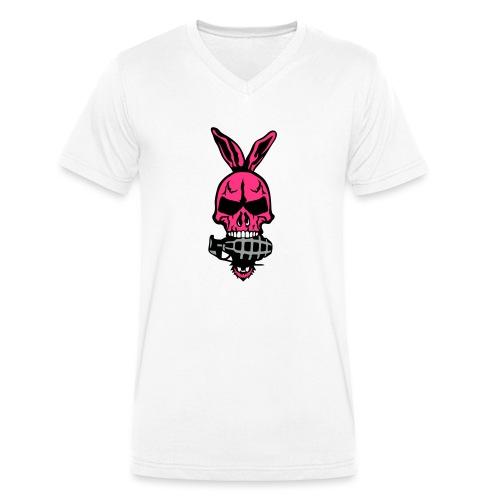 tete mort oreille lapin skull grenade 1 - T-shirt bio col V Stanley & Stella Homme