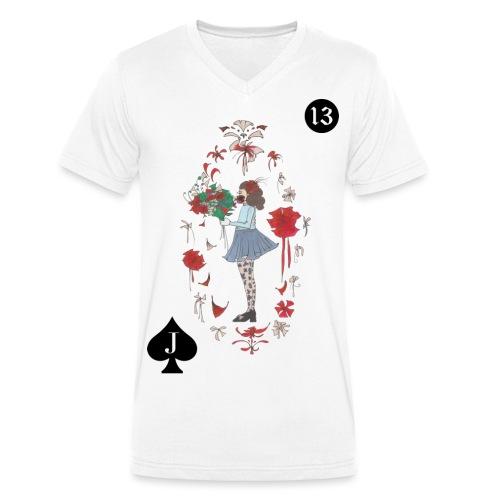 KIND IM BLOOMING LENORMAND | 13 für Neuanfänge - Männer Bio-T-Shirt mit V-Ausschnitt von Stanley & Stella