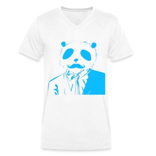 BluePanda Logo - Men's Organic V-Neck T-Shirt by Stanley & Stella