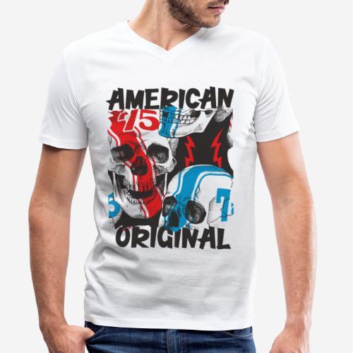 usa american original - Männer Bio-T-Shirt mit V-Ausschnitt von Stanley & Stella