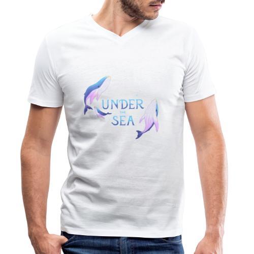 Under the Sea - Les Baleines - T-shirt bio col V Stanley & Stella Homme
