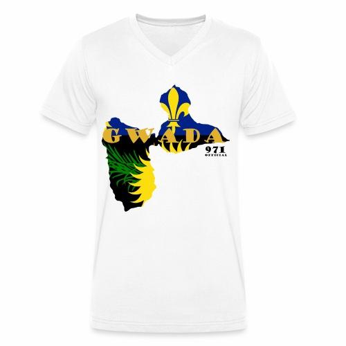 GWADA 971 OFFICIAL - T-shirt bio col V Stanley & Stella Homme