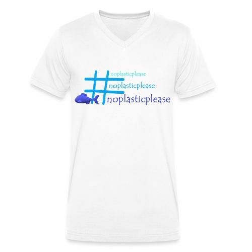 #noplasticplease - Mannen bio T-shirt met V-hals van Stanley & Stella
