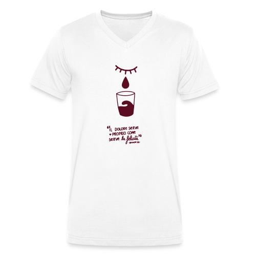 dolore-felicità - T-shirt ecologica da uomo con scollo a V di Stanley & Stella