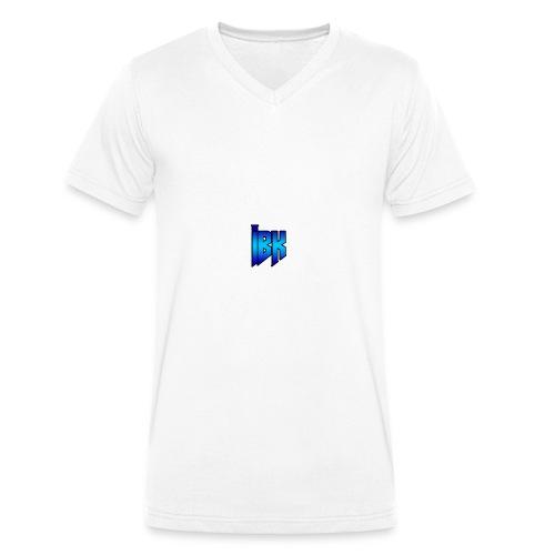 T-SHIRT MET LOGO OP - Mannen bio T-shirt met V-hals van Stanley & Stella