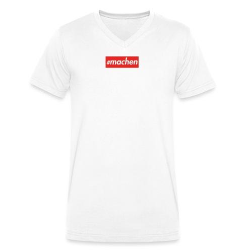 #machen (Kasten rot) - Männer Bio-T-Shirt mit V-Ausschnitt von Stanley & Stella