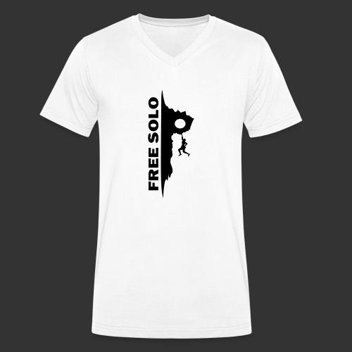 Free Solo - Männer Bio-T-Shirt mit V-Ausschnitt von Stanley & Stella