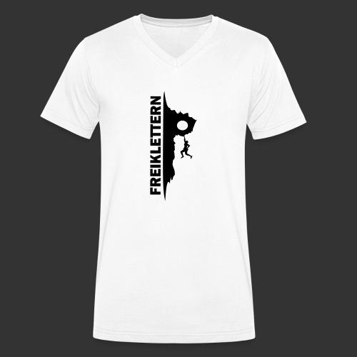 Freiklettern - Männer Bio-T-Shirt mit V-Ausschnitt von Stanley & Stella