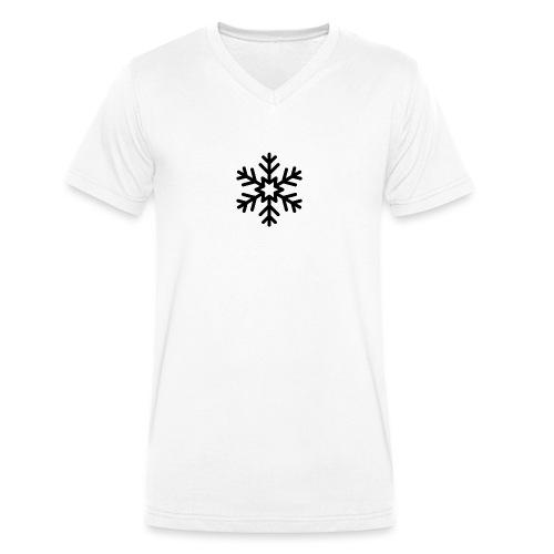 snowflake144_-1--png - Camiseta ecológica hombre con cuello de pico de Stanley & Stella