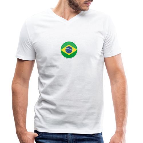 Bandeira do brasil Encontro - Men's Organic V-Neck T-Shirt by Stanley & Stella