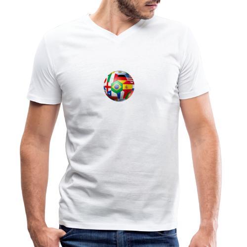 Brasil Bola - Men's Organic V-Neck T-Shirt by Stanley & Stella