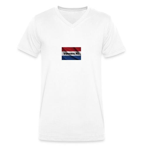 Voetbal NL - Mannen bio T-shirt met V-hals van Stanley & Stella