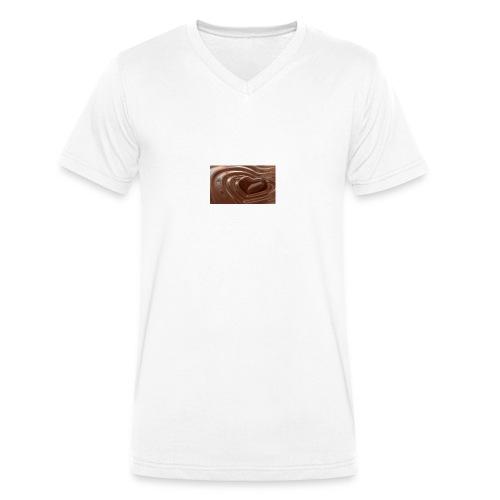 Choklad T-shirt - Ekologisk T-shirt med V-ringning herr från Stanley & Stella
