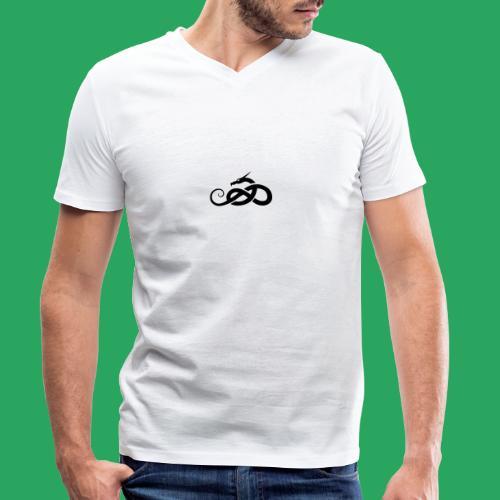 Tribal Dragon - T-shirt ecologica da uomo con scollo a V di Stanley & Stella