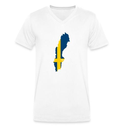 Sweden - Mannen bio T-shirt met V-hals van Stanley & Stella