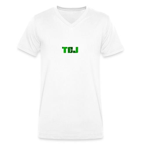 TGJ OFFICIAL LOGO - Økologisk Stanley & Stella T-shirt med V-udskæring til herrer