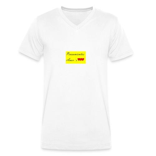 Pensamientos-png - Camiseta ecológica hombre con cuello de pico de Stanley & Stella
