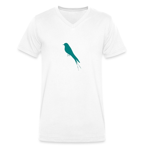 Golondrina - Camiseta ecológica hombre con cuello de pico de Stanley & Stella