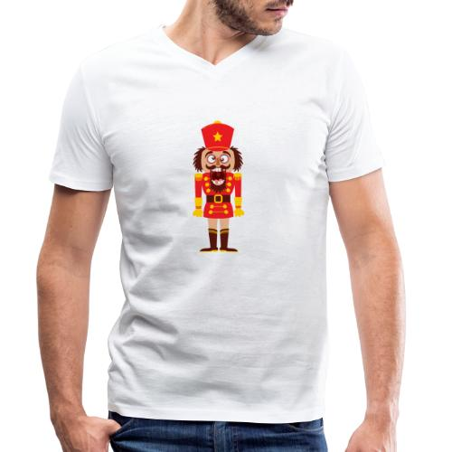 A Christmas nutcracker is a tooth cracker - Men's Organic V-Neck T-Shirt by Stanley & Stella