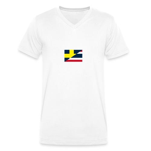 thailands flagga dddd png - Men's Organic V-Neck T-Shirt by Stanley & Stella