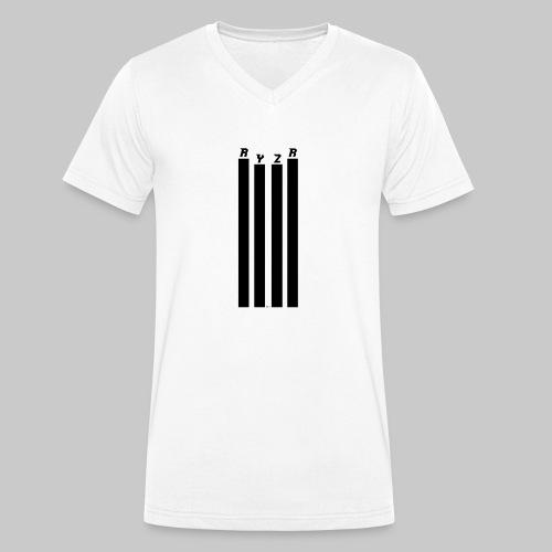 rayzor streifen logo - Männer Bio-T-Shirt mit V-Ausschnitt von Stanley & Stella