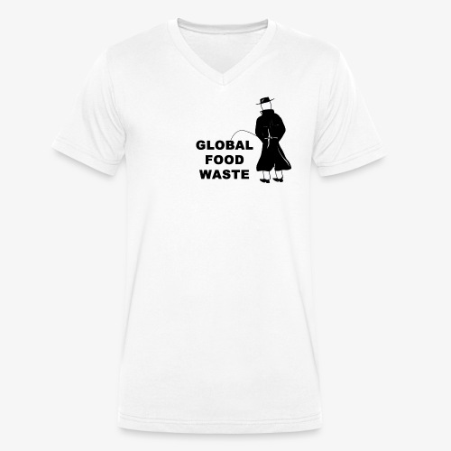Pissing Man against Global Food Waste - Männer Bio-T-Shirt mit V-Ausschnitt von Stanley & Stella