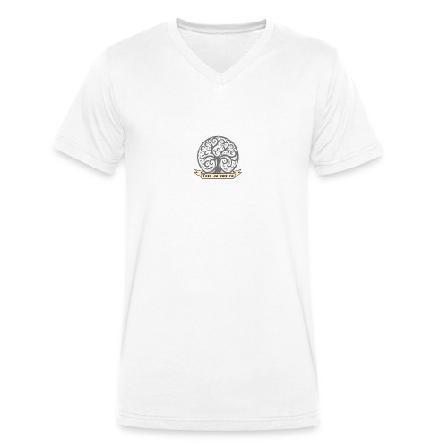 TOS grey tiny 3in png - Men's Organic V-Neck T-Shirt by Stanley & Stella