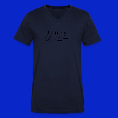 J o n n y (black) - Men's Organic V-Neck T-Shirt by Stanley & Stella