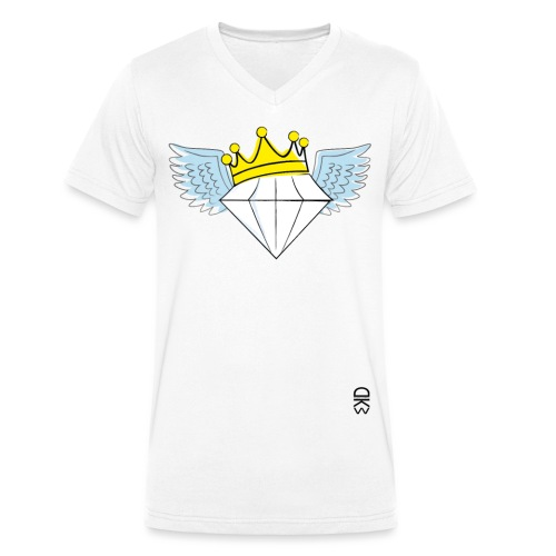 King Diamond Wings - Men's Organic V-Neck T-Shirt by Stanley & Stella