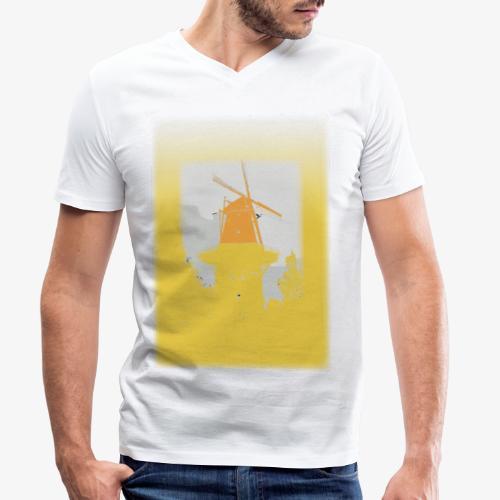 Mills yellow - T-shirt ecologica da uomo con scollo a V di Stanley & Stella